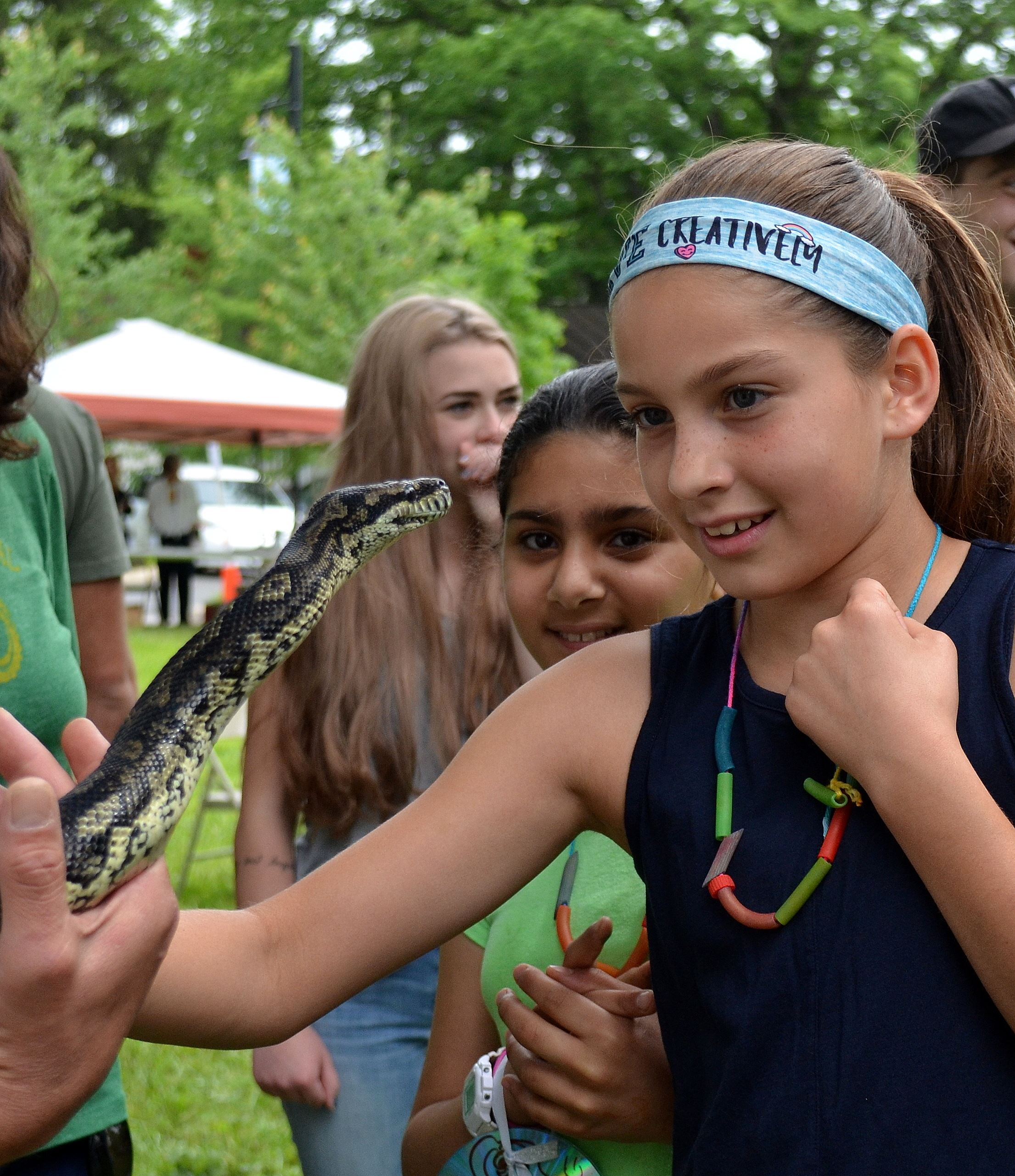 Fun Zone, Critters and Conservation, python with girl