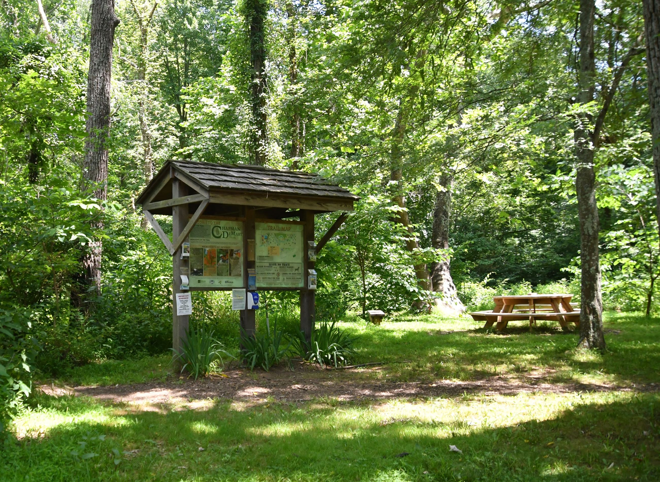 outdoor classroom at trail 4, 7-9-20