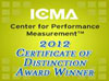 ICMA Center for Performance Measurement - 2011 Certificate of Distinction Award Winner